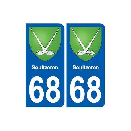 68 Soultzeren Wappen selbstklebend Plakette Sticker Stadt Winkel: gerade.