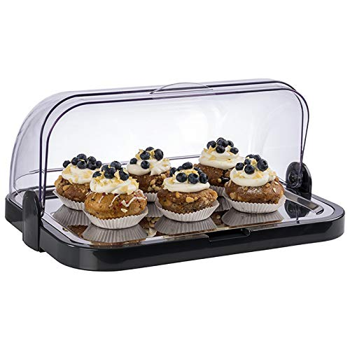 APS Vitrina de Buffet - 1 Campana rolltop Transparente, 1 Base, 1 Bandeja de Acero Inoxidable, 2 aculumadores de frío, Made in Germany (Fabricado en Alemania)