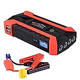 Saingace Booster Batterie,600A 89800mAh 12V Portable Jump Starter, Démarrage de Voiture,Étanche Alimentation Eléctrique d'urgence pour Voitures avec USB et Lamp LED,Kit Pinces Crocodiles
