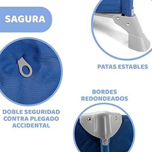 Chicco Goodnight - Cuna de viaje ligera, con cierre de paraguas, 8 kg, azul