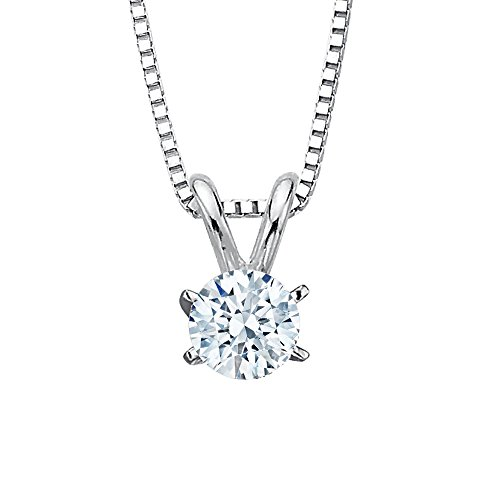 GIA Certified 7.06 ct. L - VS1 Round Brilliant Cut Diamond Solitaire Pendant Necklace in 14K White G