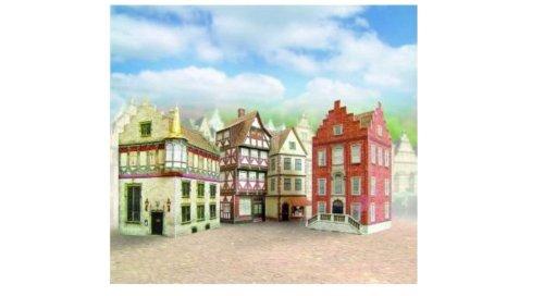 Aue Verlag 6x 6x 9cm Modelo Old Town Halls Kit (4Piezas)
