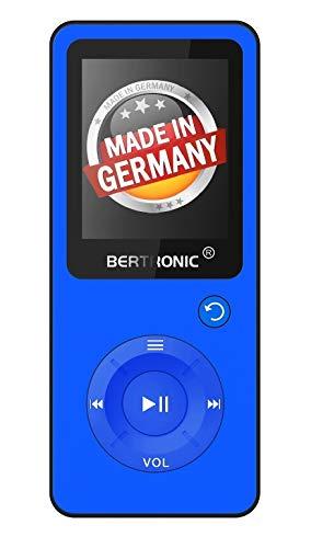BERTRONIC Made in Germany Royal BC09 MP3-Player mit Bluetooth Adapter - Bis 100 Stunden Wiedergabe | Radio | Portabler Player mit Lautsprecher | Audio-Player für Sport mit 32GB Micro-SD Karte