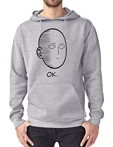 YUHX OK One Punch Man Hoodie Kapuzenpullover Herren Manga Anime Pullover Top Grafikdruck Sweatshirts Langarm Bluse Oberteil mit Tasche