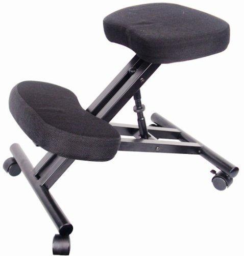 Spetedo-Silla ergonómica para ordenador, con reposarrodillas, ruedas, revestimiento de tela acolchada, altura ajustable