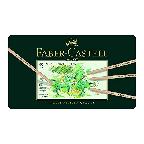 Faber-Castel FC112160 Pitt Pastel Pencils in A Metal Tin (60...