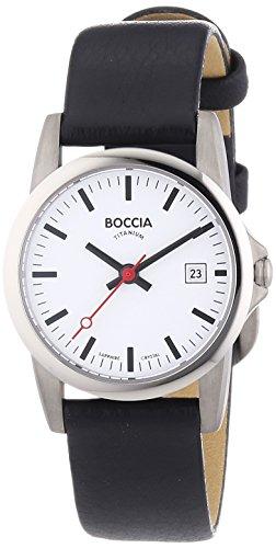Boccia Damen-Armbanduhr XS Analog Quarz Leder 3298-04