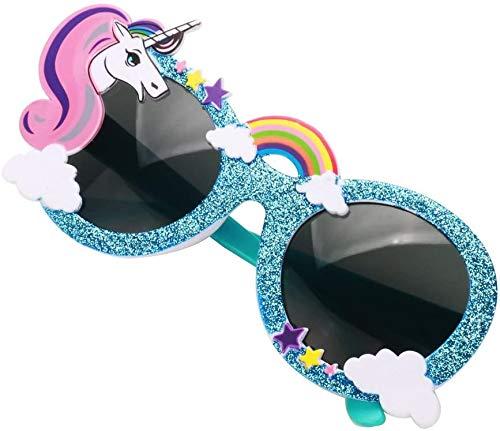 Party Avenue Blue Unicorn Party Sunglasses | Unicorn Shaped Sunglasses | Unicorn Kids Party Supplies | Perfect Unicorn Birthday Party Favor