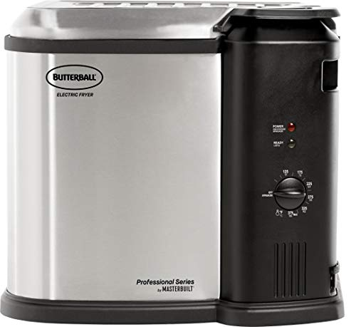 Masterbuilt MB23012418 Butterball XL Electric Fryer Stainless (New Version), Gray