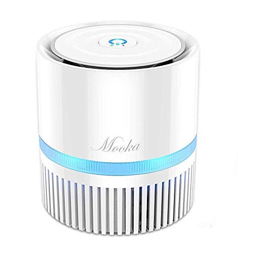 MOOKA Air Purifier for Home, 3-in-1 True HEPA Filter Air Cleaner for Bedroom and Office, Odor...