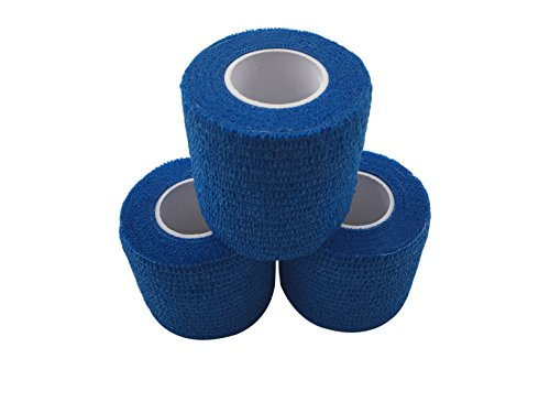 zechy Grip Tape, Hockey, Baseball, Lacrosse, was Sie brauchen eine bessere Grip auf–5,1cm von 15Füße (3Pack), blau