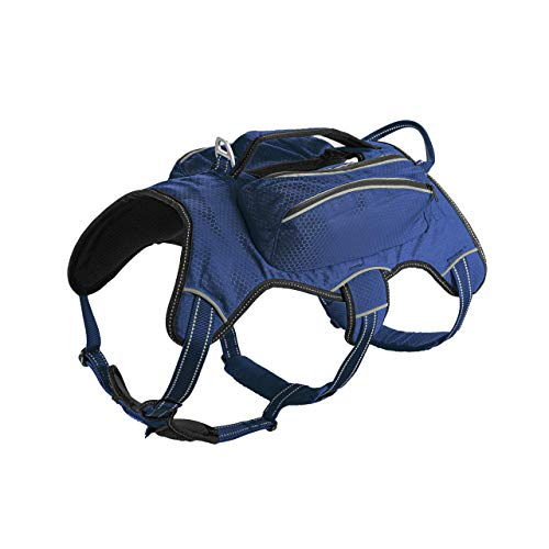 Titan - Backpack for Dogs   Dog Backpack for Hiking w/ 3M Reflective Stitching Increases Safety at Night   Front and Back Leash Attachment Points   5 Point Adjustable Fit Harness for Dogs   Dog Vest