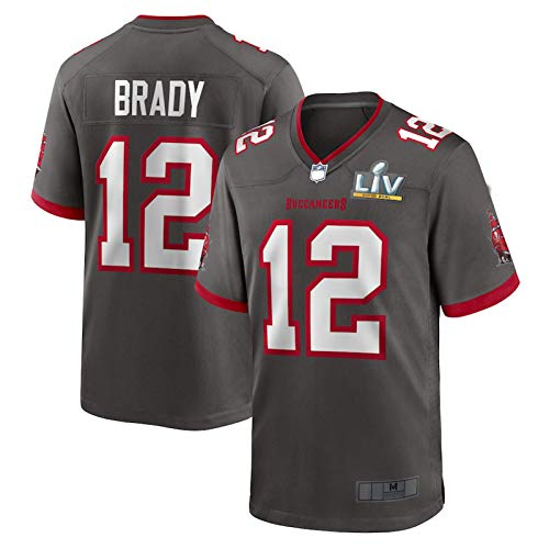 Tom Football Brady Rugby Tampa Jersey Bay Casual Buccaneers # 12 Game Jersey Ropa Deportiva Hombre - Rojo