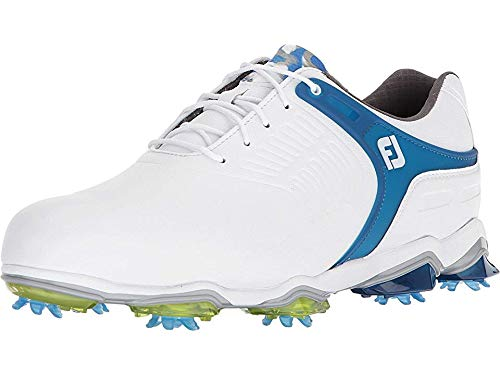 FootJoy Men's Tour-S Previous Season Style Golf Shoes White 10.5 W Blue, US