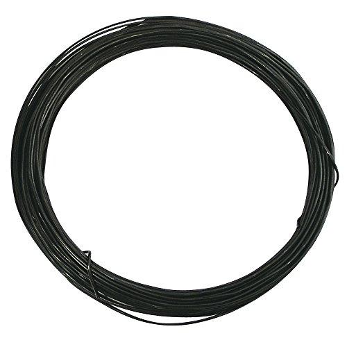 Rayher 2407500filo di ferro cotto bobina da 50metri, diametro 1,8mm per decorazioni fai da te composizioni floreali versatile robusto colore nero