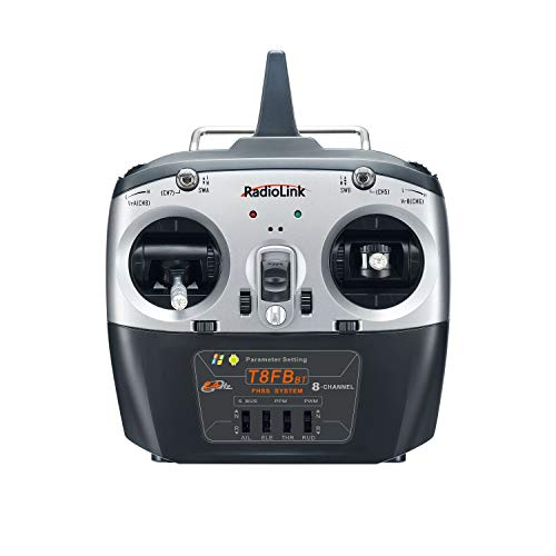 Radiolink T8FB 2.4ghz 8 Channels RC Radio Transmitter and Receiver R8EF Dual Stick Remote Controller for Airplane Boat Car Robot and More (Mode 2)