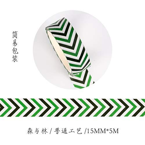 YFB Und papierband hand konto aufkleber material tagebuch DIY ganze rolle dekoration nette hand konto Sen und Lin 15 MM * 5 Mt