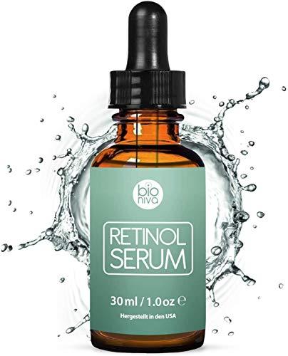 Retinol Serum Testsieger 2021 - Retinol Liposomen Liefersystem mit Vitamin C & Vegan Hyaluronsäure - Anti-Aging Lift Serum, Für Gesicht, Dekolleté und Körper von Bioniva