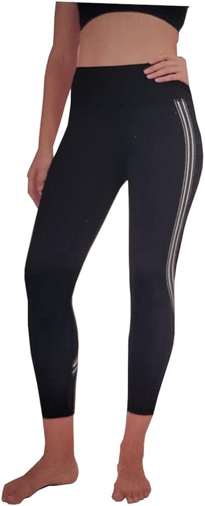 Active Life Womens Size Small Stripe Performance Leggings, Black