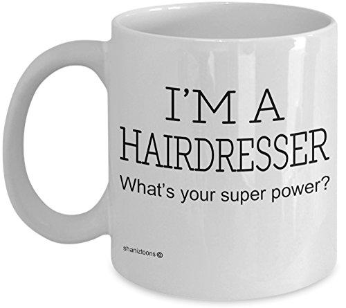 Shaniztoons Hairdresser - Taza de desayuno, diseño de peluquero