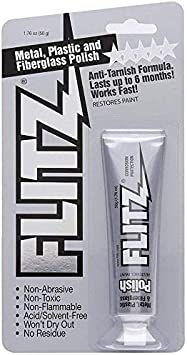 Flitz Multi-Purpose Polish and Cleaner Paste for Metal, Plastic, Fiberglass, Aluminum, Jewelry, Sterling Silver: Great for Headlight Restoration + Rust Remover, Made in the USA: image