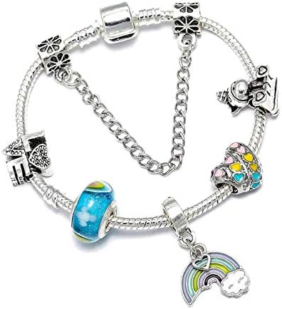 Fixed price for sale Heart Charm Bracelets for Women Original Arlington Mall Crystal Be Men Streamer