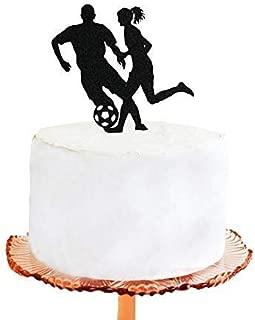Cheyan Wedding Cake Topper Soccer Football Soccer Players Wedding Acrylic Cake Topper Cake Decorations