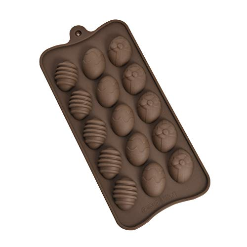 Bnoukyue Cake Pop Maker Easter Cake Mould Cracked Chocolate Mold DIY Easter Baking Tool Ice Mold Silicone Cupcake Molds (Chocolate)