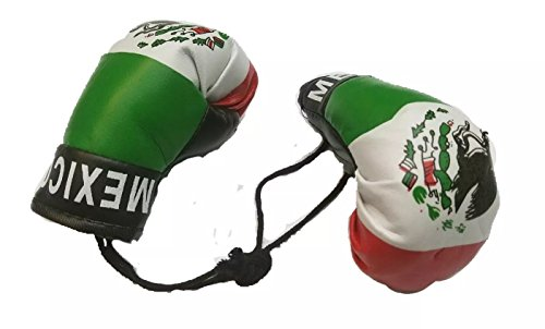 BUNFIREs Mexico Boxing Glove Banner Flag Window Mirror Mexican Pride