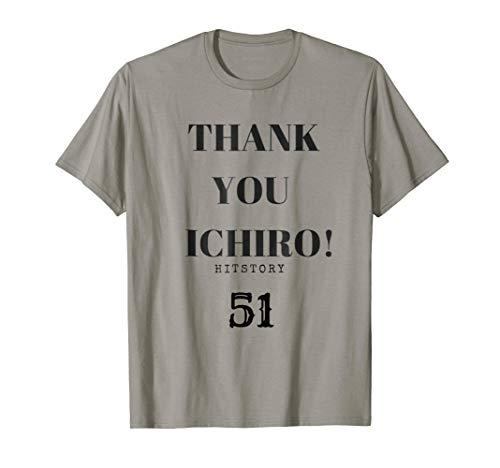 THANK YOU ICHIRO Hitstory 51 Outfielder Tee Shirt