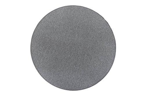 andiamo Teppich Grotone rund mit Vliesrücken, schadstoffgeprüft, meliert, Farbe:Grau, Größe:Ø 133 cm