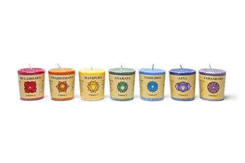 Coffret Cadeau de 7 Bougies Votives Parfumees Chakra