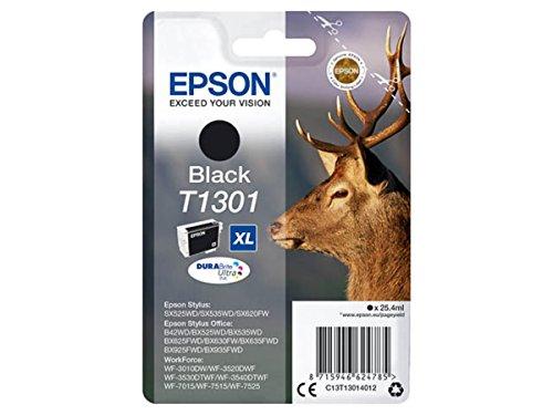 Epson original - Epson Workforce WF-3540 DTWF (T1301 / C13T13014012) - Tintenpatrone schwarz - 945 Seiten - 25,4ml