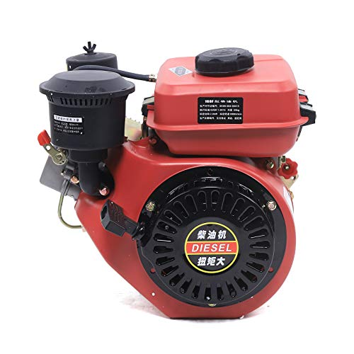 4 Stroke Diesel Motor Engine Heavy Duty 196CC Diesel Motor Single Cylinder Air Cooling Recoil Type Hand Start 3000r/min
