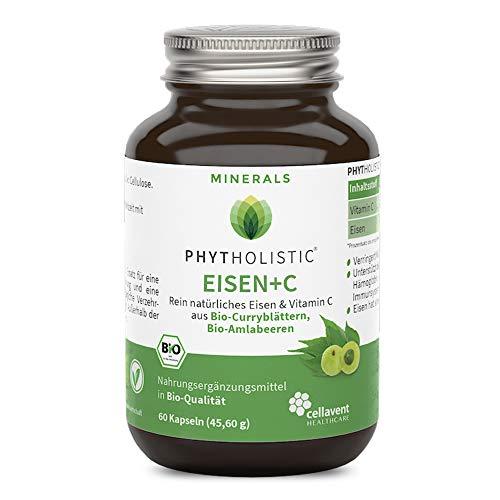 Bio Eisen Kapseln mit 80mg Vitamin C – für 2 Monate – pflanzliches Eisen - hohe Verträglichkeit – vegan – zusatzstofffrei