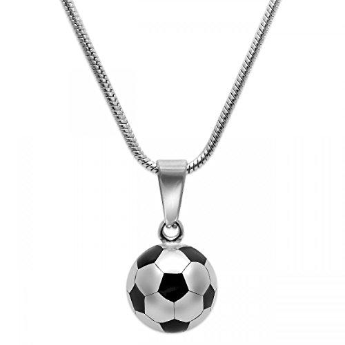 SoulCats® 1 Edelstahl Kette mit Fußball Anhänger