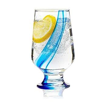 Libbey Blue Ribbon Goblet Beverage Glasses 12.8-ounce Set of 8