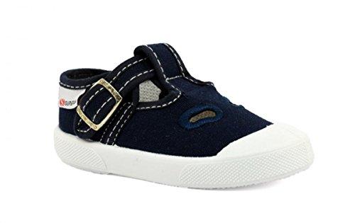 SUPERGA Sandalo Occhio di Bue Baby Tessuto Blue e Gomma S21A461-BLU
