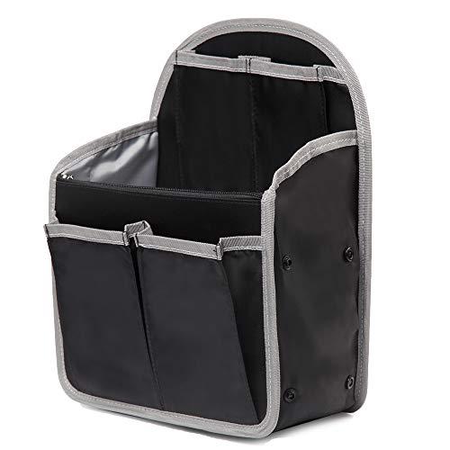 バッグインバッグ リュック 14ポケット 収納整理 miniバッグ 小さめ 軽量 ナイロン インナーバッグ インナーポケット 収納力抜群 仕分け デイパック・ザックに便利 メンズ レディース bag in bag