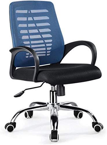 YONGYONGCHONG Silla de oficina, silla de juegos, E-Sports Executive de piel sintética con respaldo alto Boss Computer Racing Beauty Masaje, juego giratorio negro (color: azul)