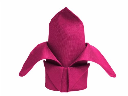 BalsaCircle 10 pcs 20-Inch Fuchsia Polyester Dinner Napkins - for Wedding Party Events Restaurant Kitchen Home