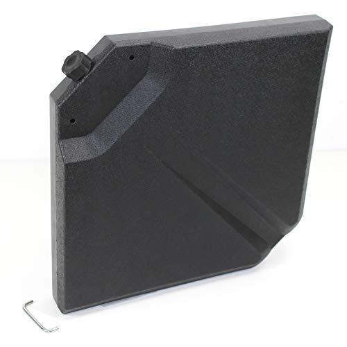 QMB 50 cm Gewichtsplatte befüllbar für Kreuz Schirmständer Ampelschirm Einzel Platte Ersatz