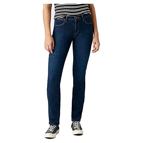 Wrangler Damen SLIM Jeans, Blau (Night Blue), 28W / 30L