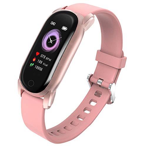QKA Pulsera Inteligente, Recordatorio Menstrual, Control Musical, Pulsera Femenina, Impermeable IP67, Rastreador De Fitness, Muñeca Smart Watch,A