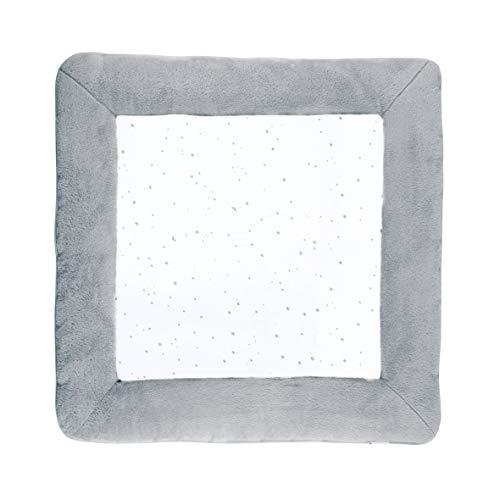 BEMINI - Tapis de Parc - 100 x100 cm - Collection Stary - motifs étoiles Ecru - en Jersey