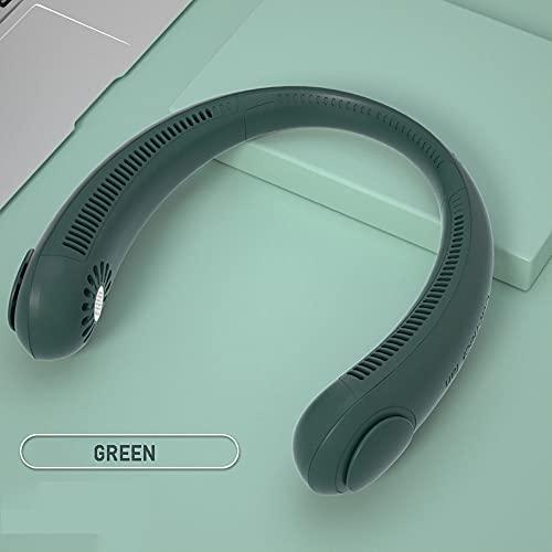 Ventilador de cuello portátil - ventilador de cuello sin broca, ventilador de enfriamiento de 360 °, ventilador de cuello personal recargable USB, diseño de aire acondicionado de aire con 3 velocida