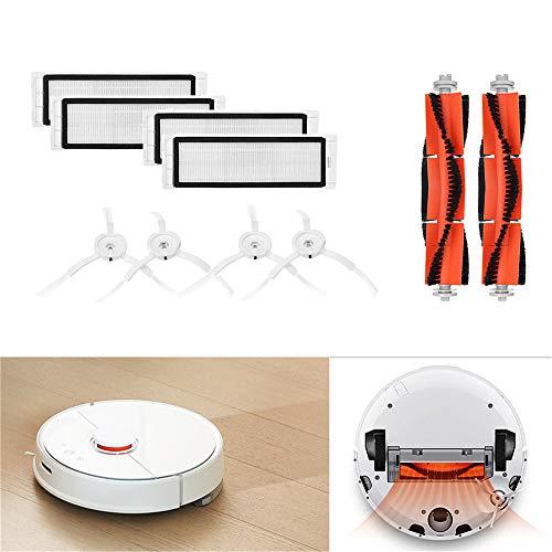 Zubehör für XIAOMI MI Robot Vacuum Saugroboter (10-Teilig),2 Zentralbürste + 4 Seitenbürste + 4 HEPA Filters,Staubsauger-Teile Ersatz für Xiaomi Mi Robot und Cleaner