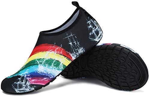 Zapatos de Agua Hombre Escarpines Zapatillas Mujer Secado rápido Playa NatacióN Surf Piscina Barefoot Ligeros de Antideslizante Multicolor