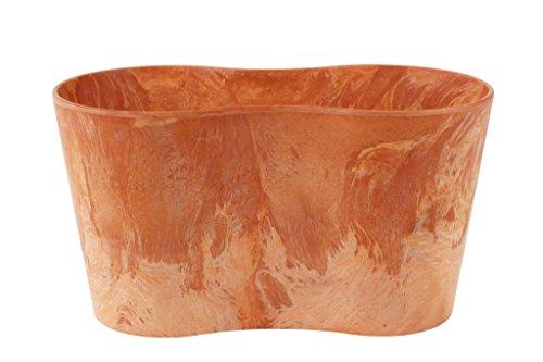 Artstone Vaso da fiori, per piante duo Claire, resistente al gelo e leggero, Terra, 26x13x14cm