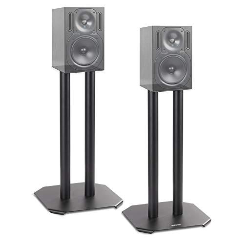 Duronic SPS1022 – 40 Twin Lautsprecherständer 40 cm Schwarze Metall Basis / 40 cm Höhe/geeignet für Lautsprecher – Hi-Fi und Heimkinoanlagen